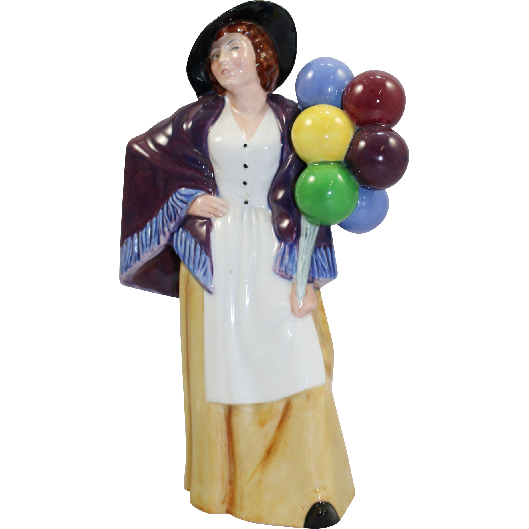 Royal doulton figurine quot balloon lady quot hn 2935 from treasure trove worcester on ruby lane