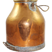 Antique Victorian Copper Milk Churn