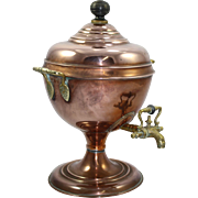 Antique Copper Samovar Hot Water Urn