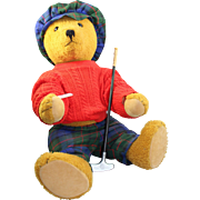 Quality German Bing Golfing Teddy Bear