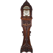 19th c. Carved Oak Longcase Clock by Thomas Turner London