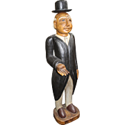 Carved Wood Painted Butler Figure Sculpture