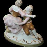 Royal Dux Bisque Figure Group