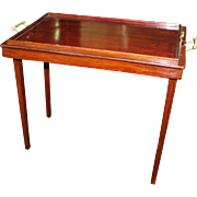 Edwardian Mahogany Osterley Folding Tray Table