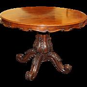 Fine Antique 19th c. Mahogany Centre Table