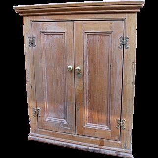 Antique Georgian Pine Hanging Corner Cabinet