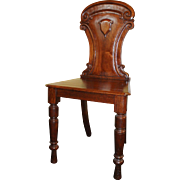 Antique Victorian Mahogany Hall Occasional Chair
