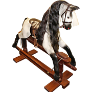 Quality Carved Wood Horseplay Dapple Grey Rocking Horse