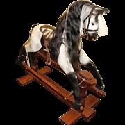 Quality Carved Wood Horseplay Dapple Grey Rocking Horse