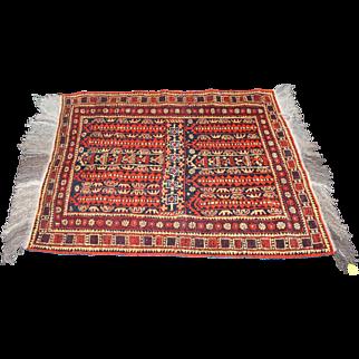 Old Vintage Red Prayer Mat Rug Afghanistan Approx 3 x 5 ft