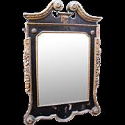 Fine Georgian William Kent Style Parcel Gilt Lacquered Pier Glass Mirror