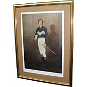 Limited Edition Signed Print of Lester Piggott Set in Frame