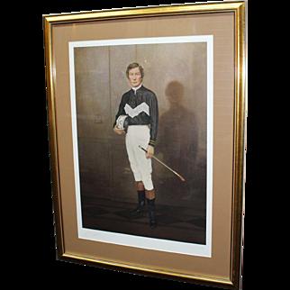 Limited Edition Signed Print of Lester Piggott Set in Frame