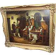 Fine G.B.Osterman Interior Scene Painting Oil on Board