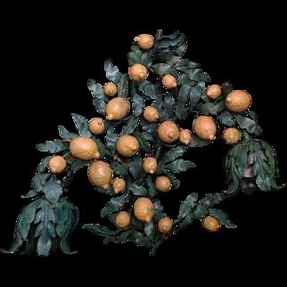 Italian 2-Light Iron Lemon Wall Sconce - Single