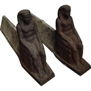 Egyptian Revival Andirons - A Pair