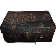 Antique Alligator Trunk