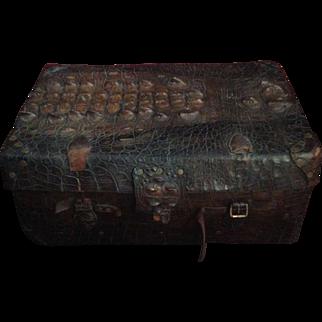 Antique Alligator Trunk