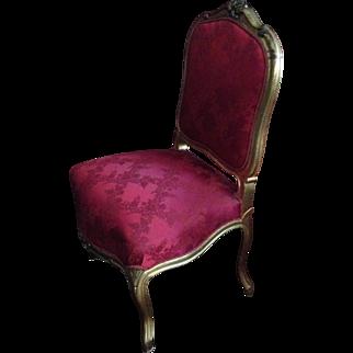 Italian Carved Wood Gilt Side Chair