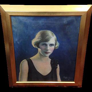 Zelda Fitzgerald Oil Painting - L.L. Hawkins 1931