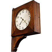 Double Sided Railway Station Clock. Seth Thomas.
