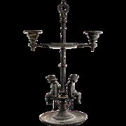 Antique French Candelabra Chandelier Art Nouveau Rustic Shabby Chic Cherub Design