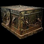 1910s Imperial German Cashbox With Iron Crosses Metal Cash Box Money Box Document Box