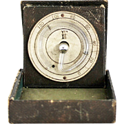 Antique Pocket Thermometer Rare Victorian Circular Fahrenheit Thermometer