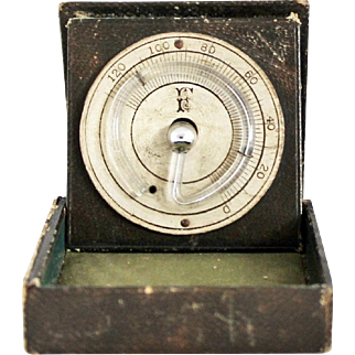 Antique Pocket Thermometer Rare Victorian Circular Fahrenheit Thermometer