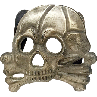 A Rare Prussian Death's Head Hussar Busby Badge