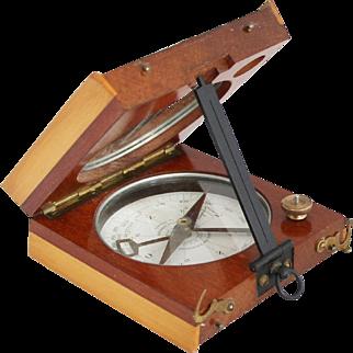 """WWI French Compass Alidade """"Systeme du COLONEL PEIGNE"""" Civil Version"""