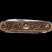 1950s Vintage HERMES Advertising Pocket Knife Solingen