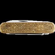 1940s BAYER Advertising Pocket Knife Solingen / Vintage German Folding Knife