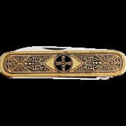 1960s BAYER Advertising Pocket Knife Solingen / Vintage German Folding Knife