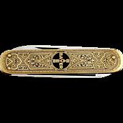 1950s BAYER Advertising Pocket Knife Solingen / Vintage German Folding Knife