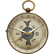 1930s French Morin Compass / Military Brass Compass