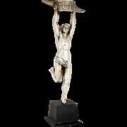 Vintage Ricard Anisette Advertising Statue / 1960s French Marathon Runner