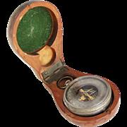 Rare Antique Cased Pocket Barometer A. Rosenthal Prague, c. 1890s