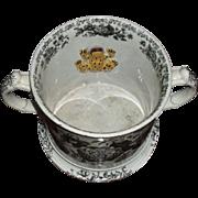 Large Rare Staffordshire Mid 19th Century Frog Mug.