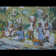 Karl MACHATSCHEK (1906-1994) Gouache, Watercolor, Post Impressionist Painting