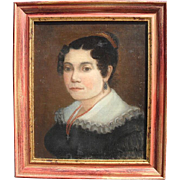 Portrait of an Elegant Woman, French School, c1840 Oil Painting.