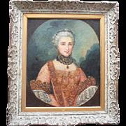 Follower of Jean-Marc Nattier Portrait, A French aristocrat c1790 Oil Painting