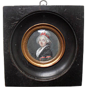 Portrait Miniature dated 1792 French Revolutionary.