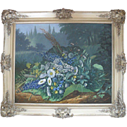 "Benjamin Raspail (1823 1899) ""Fleurs de Parintemps"" 1868 Still Live Oil Painting"