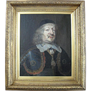 17th-century Old Master, Dutch School portrait Oil Painting circa 1660.