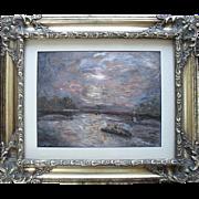 Herand GULBENKIAN (1880-1968) Franco/Armenian Artist.  Paramé St Malo Impressionist Oil ...