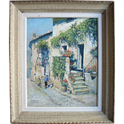 "Michel CHAPUIS (1925-2004) French Post Impressionist. Oil Painting ""Valréas"""
