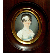 Exquisite Portrait Miniature School  c1820.