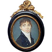 Bourbon Restoration Period French Portrait Miniature circa 1820