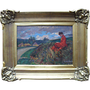 Alfred Marie LE PETIT (1876-1953) French Impressionist School Oil Painting 1903